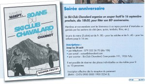 16.09.2017 – 80e anniversaire du Ski-Club Chavalard
